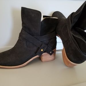 Ugg brand suede ankle boots